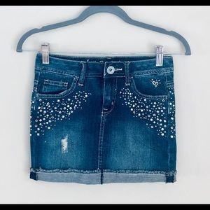 Justice Denim Skirts with Jewels Size 10R (girls)